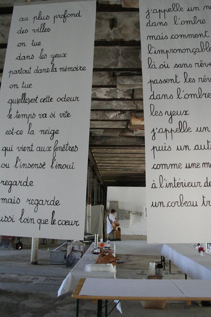 Les grands calques écrits de Gilbert Vautrin